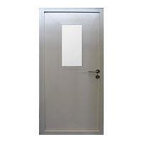 металлические остекленные противопожарные двери